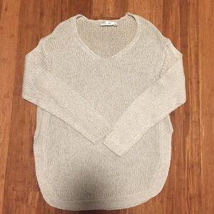 RD Style Beige Circle Hem Knit Sweater